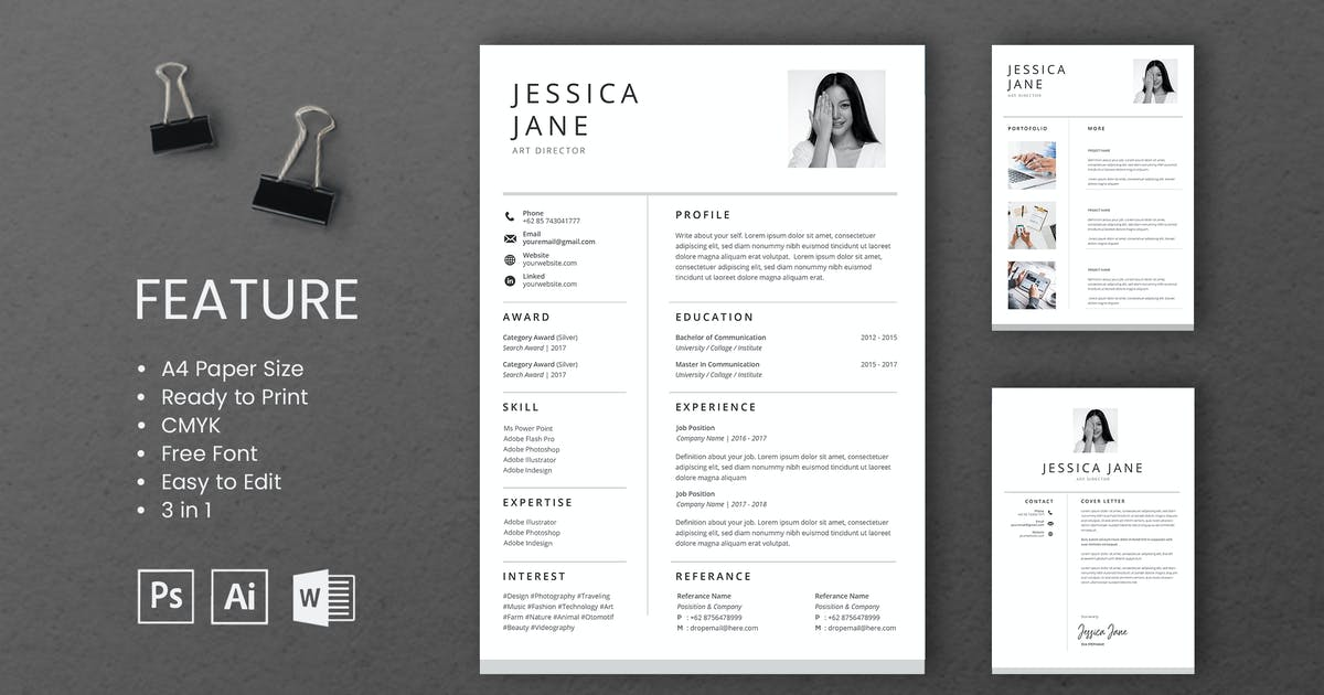 Download Professional CV And Resume Template Jessica by WPBootstrap