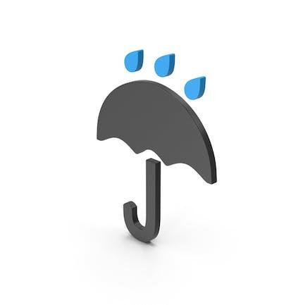 Paraguas símbolo lloviendo