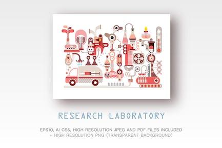 Research Laboratory vector illustration