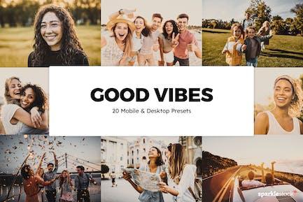 20 Good Vibes Lightroom Presets & LUTs
