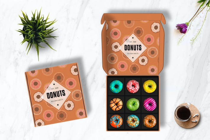 Download Cake Donuts Box Mockup By Victorthemesnx On Envato Elements