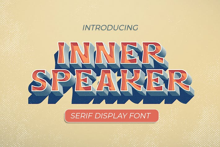 Thumbnail for Innerspeaker Serif Display Font