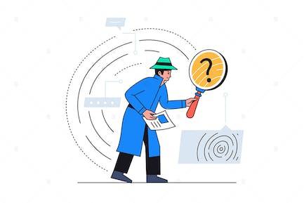 Internet Security - flat design style illusreation