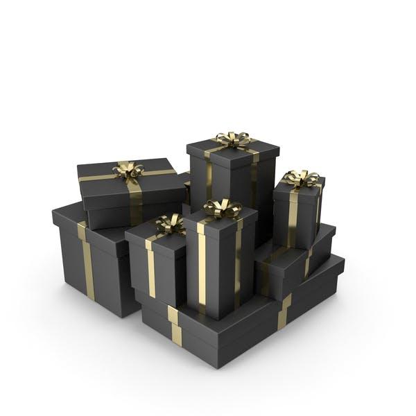 Черные подарочные коробки