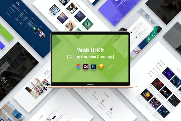 Online Courses Web UI Kit-02