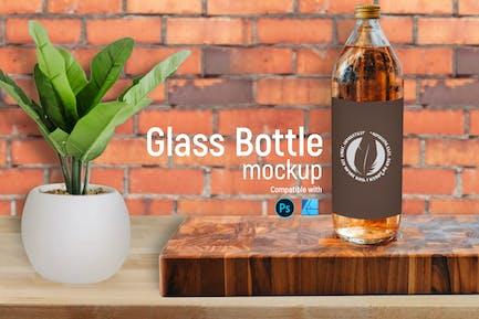 Glasflaschen Mockup