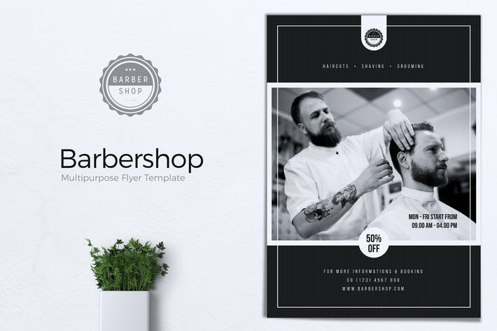 Cover Image For Barbershop Flyer Templates