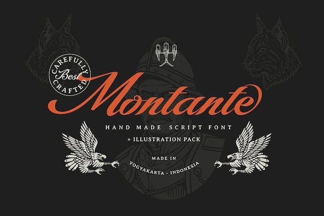 Montante Decorative Script