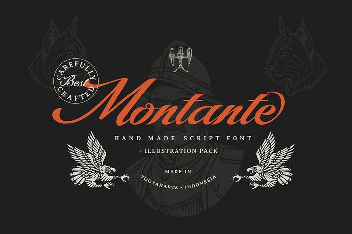Thumbnail for Montante Decorative Script