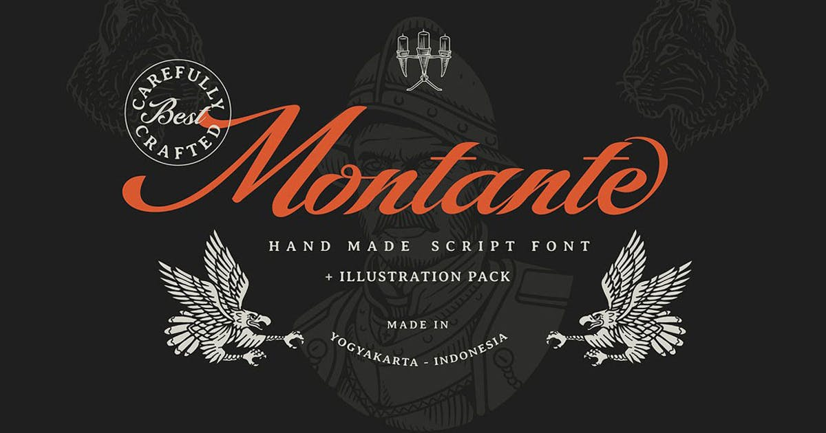 Download Montante Decorative Script by cruzine