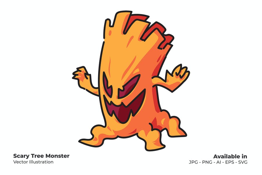 Scary Tree Monster