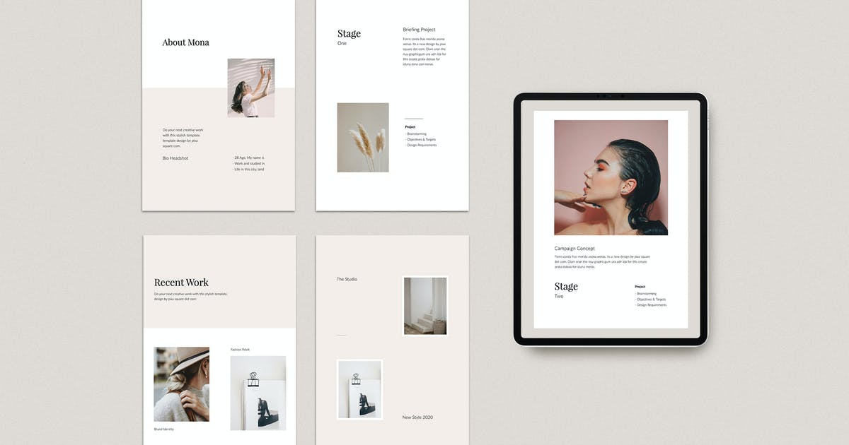 Download MONA - A4 Vertical Powerpoint Media Kit Template by Pixasquare