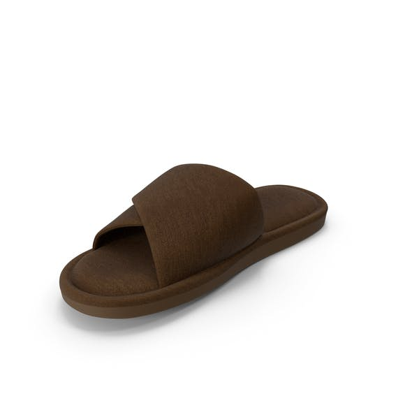 Mens Slippers Brown