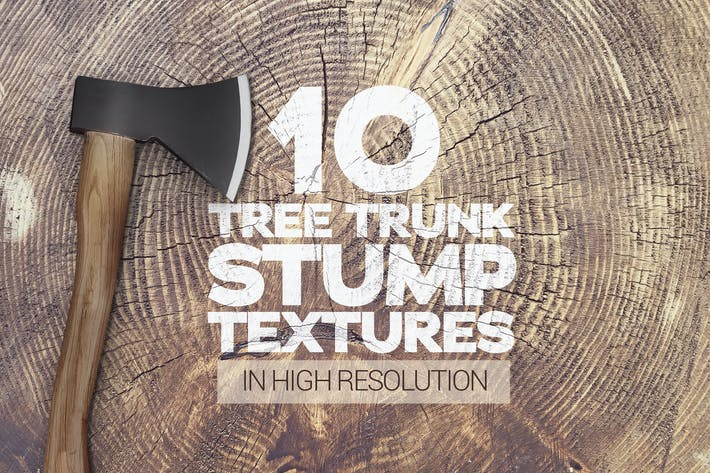Cover Image For Tree Trunk Stump Textures x10