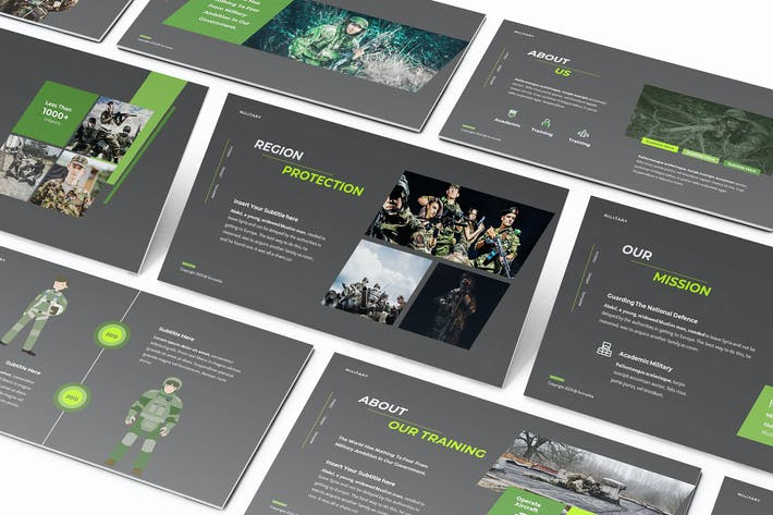 Thumbnail for Dean Jaka Military Powerpoint Template