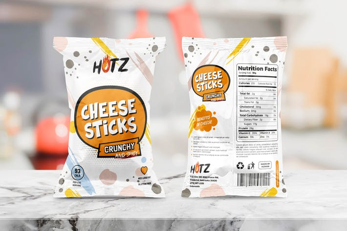 Thumbnail for Snack Packaging Templates