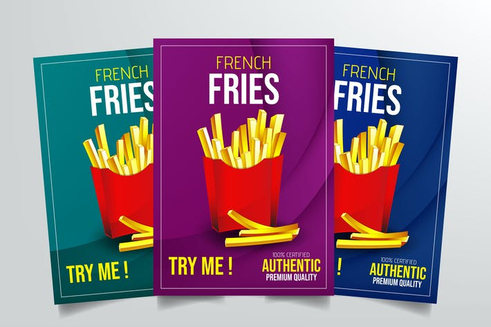 Thumbnail for French Fries Flyer Template