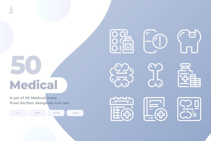 Thumbnail for 50 Medical and Heathcare Icons