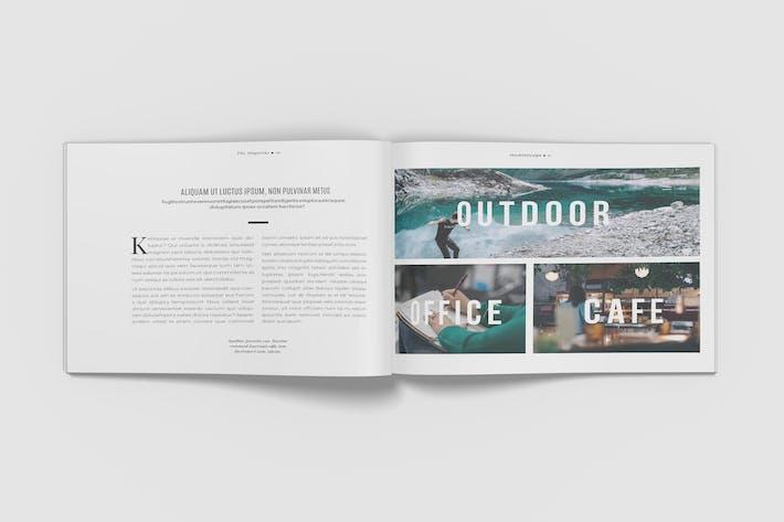 Thumbnail for Landscape A4 Minimalist Magazine Mockup