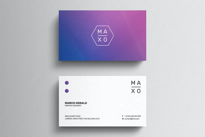 Thumbnail for Minimal Gradient Business Card Template