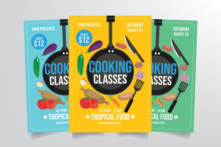 Thumbnail for Cooking Class Flyer Template