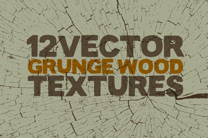 Thumbnail for Vector Grunge Wood Textures x12