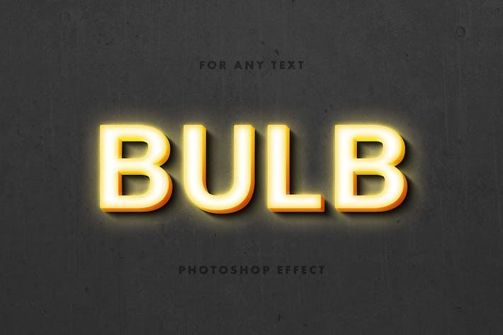 Lightbulb Text Effect