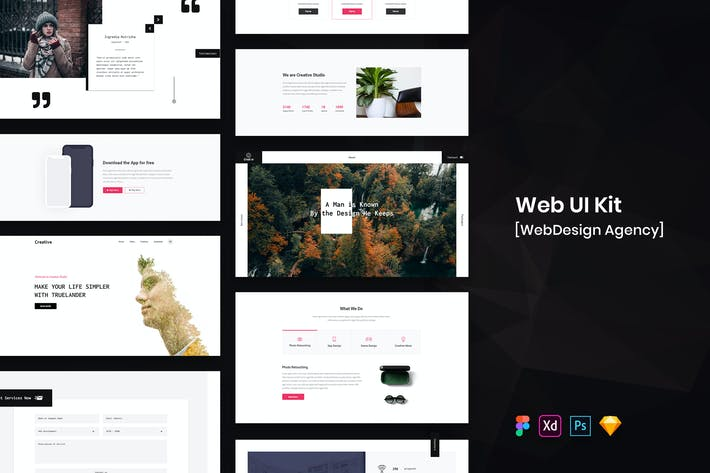 Thumbnail for WebDesign Agency Web UI Kit