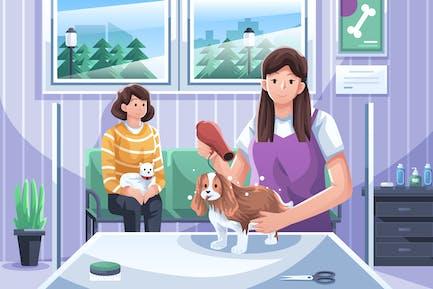 Haustier-Pflege-Abbildung
