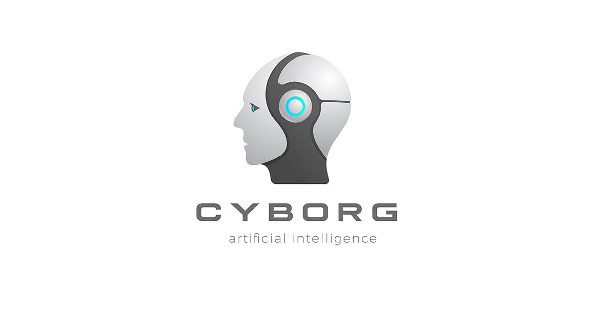 Download Robot Cyborg Android Artificial Intelligence Logo by Sentavio