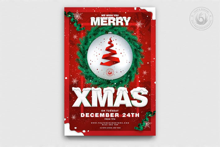 Thumbnail for Christmas Eve Flyer Template V11