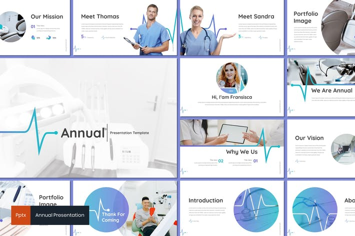Annual - Medical Powerpoint Template