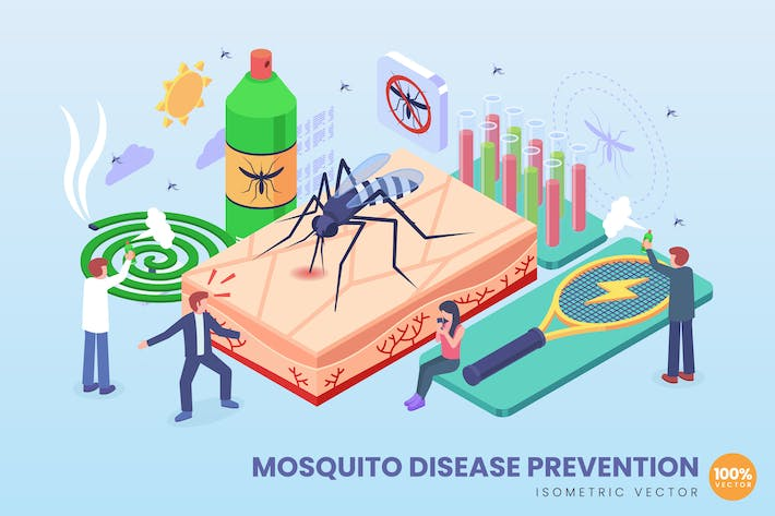 Thumbnail for Isometric Mosquito Disease Prevention Concept