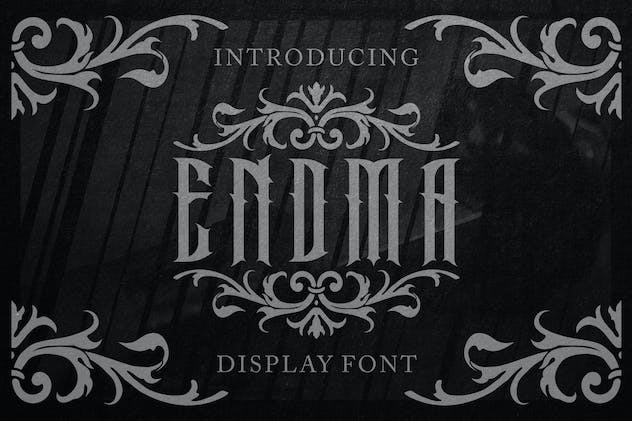 Endma Display Font