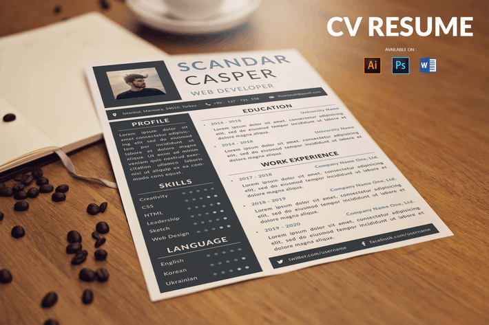 Thumbnail for CV Resume Professional