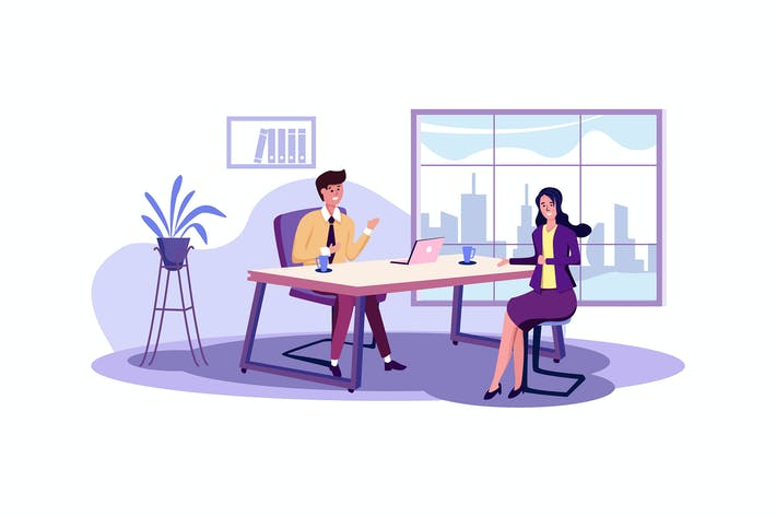 Thumbnail for Job Interview vector Illustration concept