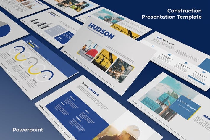 Hudson - Construction Powerpoint Templates