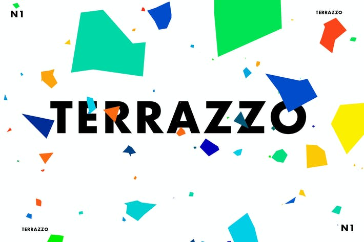 Cover Image For Terrazzo One Vector Graphics Set