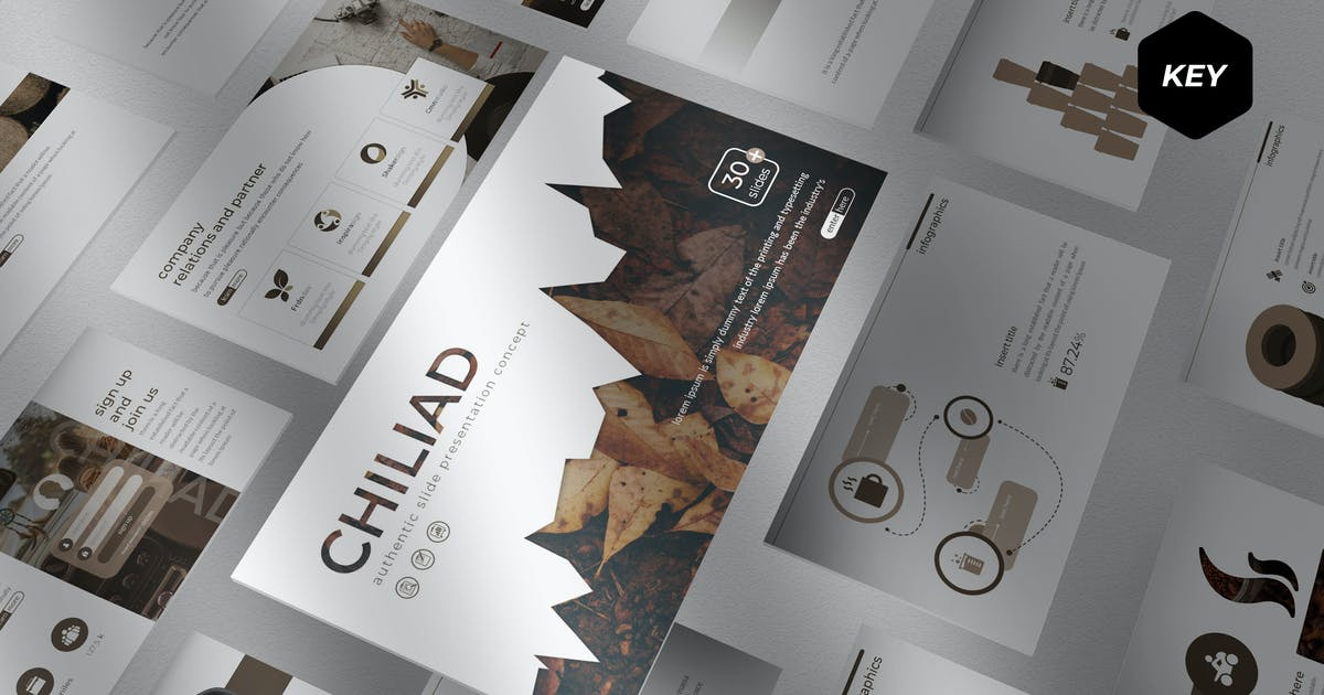 Download Chiliad - Keynote Template by aqrstudio