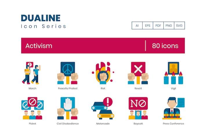 Thumbnail for 80 Flache Icons des Aktivismus