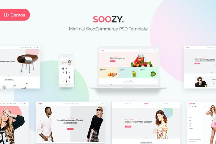 Thumbnail for Soozy | Minimalist WooCommerce Psd Template