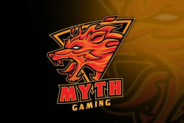 Thumbnail for Fox Fire Myth Esport Logo Template