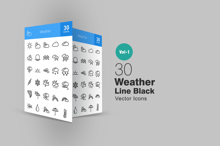Thumbnail for 30 Weather Line Icons