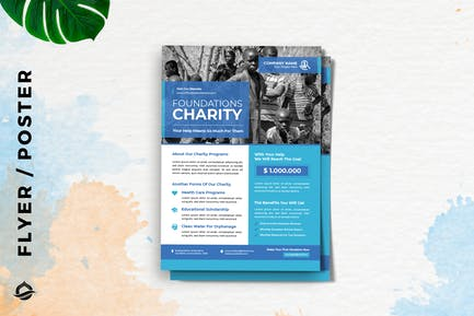 Charity Clean Water program Flyer / Poster