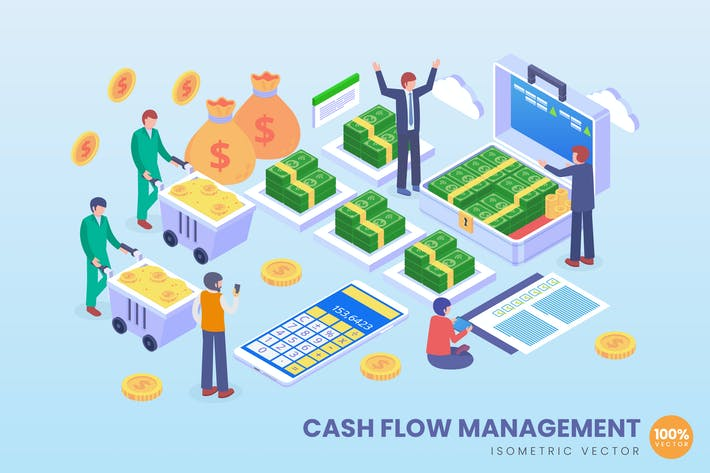 Thumbnail for Isometric Cashflow Management Vector Concept