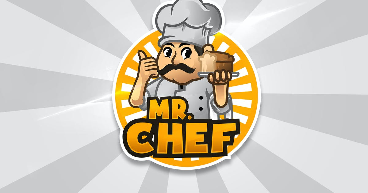 Download Mr Chef - Mascot & Esport Logo by aqrstudio