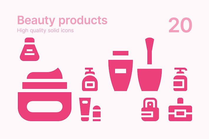 Schönheitsprodukte Icons