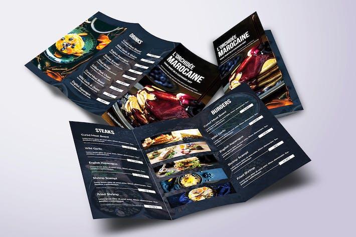 Thumbnail for Fresh Minimal Trifold A4 & US Letter Food Menu
