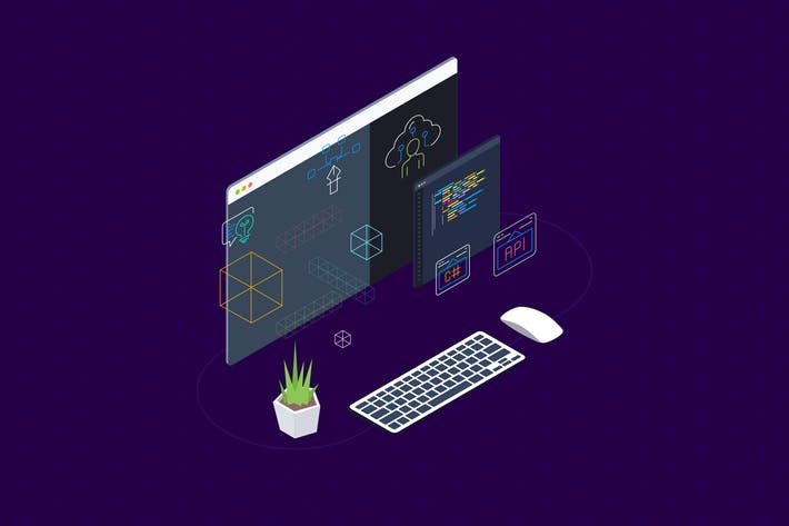Thumbnail for Blockchain Platform Isometric Illustration 9