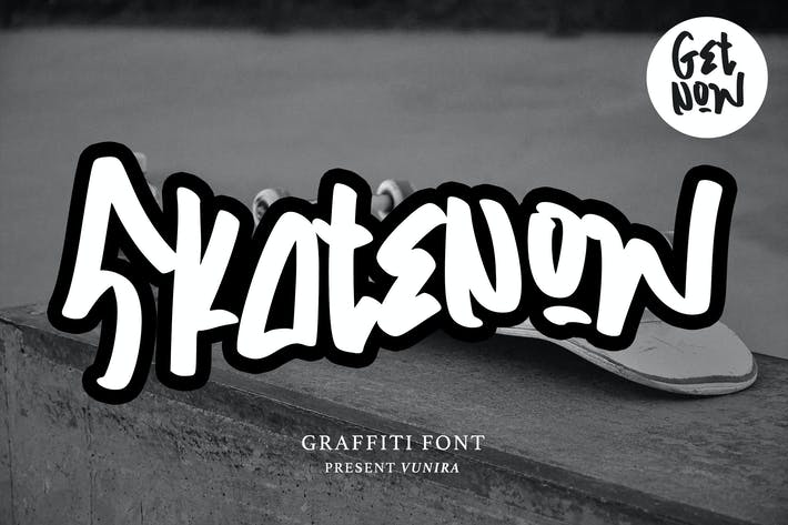 Thumbnail for Skatenow | Graffiti Font